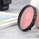 RUIGPRO for GoPro HERO 7/6 /5 Proffesional 52mm Red Color Lens Filter with Filter Adapter Ring & Lens Cap