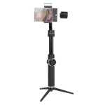 AFI V5 Smooth 3-Axis Handheld Aluminum Brushless Gimbal Stabilizer with Tripod Mount & Fill Light for Smartphones within 6 inch, Support Face Tracking(Black)