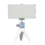 F18 Pocket 180 LEDs Professional Vlogging Photography Video & Photo Studio Light with OLED Display for Canon / Nikon DSLR Cameras(White)