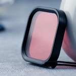 Square Housing Diving Color Lens Filter for GoPro HERO8 (Pink)