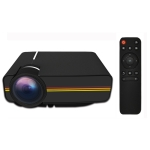 YG400 1.5-3m 50-100 inch LED Projector HD Home Theater with Remote Control, Support HDMI, VGA, AV, SD, USB, Standrad Version(Black)