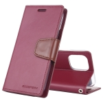 For iPhone XI Max 2019 MERCURY GOOSPERY SONATA DIARY Horizontal Flip Leather Case with Holder & Card Slots & Wallet(Wine)