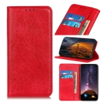 For Xiaomi Redmi Note 8 Pro Magnetic Retro Crazy Horse Texture Horizontal Flip Leather Case with Holder & Card Slots & Wallet(Red)