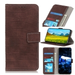 For Xiaomi Redmi Note 8 Pro Crocodile Texture Horizontal Flip Leather Case with Holder & Wallet & Card Slots & Photo Frame(Brown)