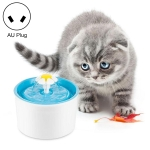 1.6L Automatic Electric Water Fountain Dog Cat Pet Drinker Bowl Drinking Fountain Dispenser, AU Plug (Blue)