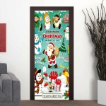 Cartoon Santa Claus Snowman Living Room Door Corridor Removable Christmas Wall Sticker Decoretion