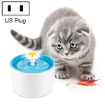 1.6L Automatic Electric Water Fountain Dog Cat Pet Drinker Bowl Drinking Fountain Dispenser, US Plug (Blue)