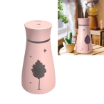 Kuyou F9 Maple Shadow Household Vehicle Mute Air Humidifier Aromatherapy Machine with USB Cable & USB Light & Fan(Pink)