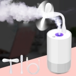 Multifunctional Household Vehicle Mute Air Humidifier Aromatherapy Machine, Capacity: 320ml (Grey)