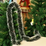 10 PCS Pull Flower Ribbon Christmas Holiday Party Decoration, Random Color Delivery