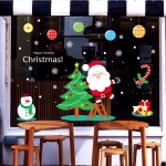 Window Glass Door Removable Christmas Wall Sticker Decoretion