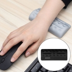 BUBM Mouse Pad Wrist Support Keyboard Memory Pillow Holder, Size: 13 x 5.5 x 1.7cm (Black)