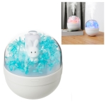 Immortal Flower Design Honey Rabbit Night Light Atomized Humidifier Air Moisturizing Machine, Capacity: 220mL (Blue)