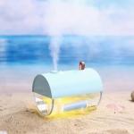Ibiey Submarine Shape USB Mini Ultrasonic Aromatherapy Humidifier with LED Light, Capacity: 230mL (Blue)