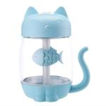 Creative Portable Home Car-mounted Aromatherapy Machine USB Cartoon Cat Shape Mini Humidifier, Capacity: 350mL (Blue)