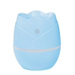 Rose Humidifier USB Mini Desktop Office Air Purifier with Night Light, Capacity: 50mL (Blue)