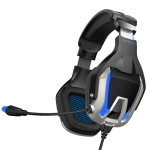 ONIKUMA K12 Over Ear Bass Stereo Surround USB + 3.5mm Plug Gaming Headphone with Microphone & LED Light(Blue)