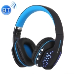 Beexcellent Q2 Dynamic Stereo Gaming Wireless Bluetooth Headset with LED Light for PS4, Smartphone, Tablet, PC, Notebook(Blue)