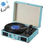 EC102B Suitcase Design Music Disc Player Tuntable Record Player (Blue)