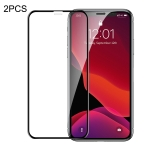 2 PCS Baseus 0.23mm Crack-resistant Edges Curved Full Screen Tempered Glass Film for iPhone 11 Pro