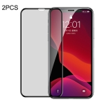 2 PCS Baseus 0.23mm Privacy Anti-glare Crack-resistant Edges Curved Full Screen Tempered Glass Film for iPhone 11 Pro Max