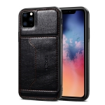 For iPhone XI Max 2019 Dibase TPU + PC + PU Crazy Horse Texture Protective Case with Holder & Card Slots(Black)