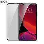 2 PCS Baseus 0.3mm Full Screen Curved Edge Cellular Dust Anti-glare Tempered Glass Film for iPhone XIR 2019