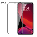 2 PCS Baseus 0.23mm Crack-resistant Edges Curved Full Screen Tempered Glass Film for iPhone 11