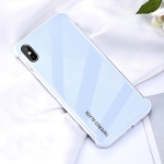 For iPhone X / XS  Shockproof Tempered Protective Case (Blue)