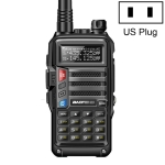 Baofeng BF-UV5R Plus S9 FM Interphone Handheld Walkie Talkie, US Plug (Black)