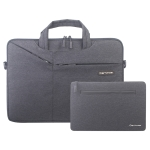 Cartinoe Polyester Waterproof Laptop Handbag + Packet for 14 / 15.4 inch Laptops, with Trunk Trolley Strap (Black)