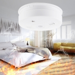 433MHz Photoelectronc Smoke and Heat Detector(White)