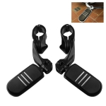 MB-BF007-BK 2 PCS Motorcycle Footrests Footpegs Rear Pedals Set for Harley Davidson 1 1/4 inch (32mm) Engine Guard