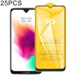 25 PCS For Motorola Moto G7 9D Full Glue Full Screen Tempered Glass Film