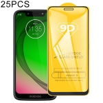 25 PCS For Motorola Moto G7 Play 9D Full Glue Full Screen Tempered Glass Film