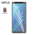 10 PCS Non-Full Matte Frosted Tempered Glass Film for Galaxy A8+ (2018)