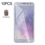 10 PCS Non-Full Matte Frosted Tempered Glass Film for Galaxy J4
