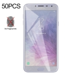 50 PCS Non-Full Matte Frosted Tempered Glass Film for Galaxy J4, No Retail Package