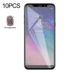 10 PCS Non-Full Matte Frosted Tempered Glass Film for Galaxy A6+ (2018)