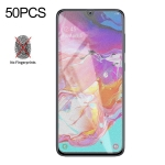 50 PCS Non-Full Matte Frosted Tempered Glass Film for Galaxy A70, No Retail Package