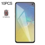 10 PCS Non-Full Matte Frosted Tempered Glass Film for Galaxy S10e