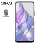 50 PCS Non-Full Matte Frosted Tempered Glass Film for Huawei Honor 9X / 9X Pro, No Retail Package