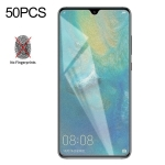 50 PCS Non-Full Matte Frosted Tempered Glass Film for Huawei Mate 20, No Retail Package
