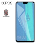 50 PCS Non-Full Matte Frosted Tempered Glass Film for Huawei Y9 (2019) / Enjoy 9 Plus, No Retail Package