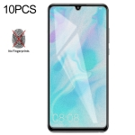 10 PCS Non-Full Matte Frosted Tempered Glass Film for Huawei P30 Lite