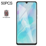 50 PCS Non-Full Matte Frosted Tempered Glass Film for Huawei P30 Lite, No Retail Package