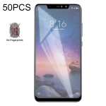 50 PCS Non-Full Matte Frosted Tempered Glass Film for Xiaomi Redmi Note 6 Pro, No Retail Package