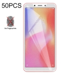 50 PCS Non-Full Matte Frosted Tempered Glass Film for Xiaomi Redmi 6 / Redmi 6A, No Retail Package