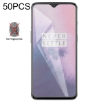 50 PCS Non-Full Matte Frosted Tempered Glass Film for OnePlus 7, No Retail Package