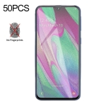 50 PCS Non-Full Matte Frosted Tempered Glass Film for Galaxy A40, No Retail Package